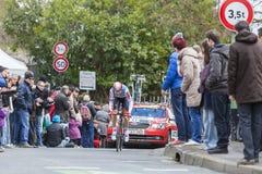 Cyklisten Lars Ytting Bak - Paris-Nice 2016 Royaltyfria Foton