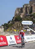 Cyklisten Lieuwe Westra Royaltyfria Foton