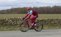 Cyklisten Marco Haller - Paris-Nice 2018 Arkivfoto