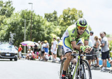 Cyklisten Marco Marcato - Tour de France 2014 Royaltyfri Fotografi