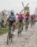 Cyklisten Matti Breschel - Paris-Roubaix 2018 Arkivfoto