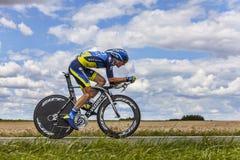 Cyklisten Michael Morkov Arkivfoton