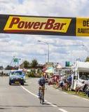 Cyklisten Nicki Sorensen Arkivfoto