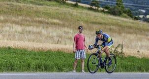 Cyklisten Nicolas Roche Arkivbilder