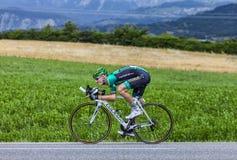 Cyklisten Pierre Rolland Royaltyfria Foton