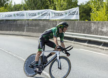 Cyklisten Pierre Rolland - Tour de France 2014 Royaltyfri Fotografi