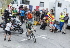 Cyklisten Pierre Rolland - Tour de France 2015 Royaltyfria Bilder