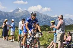 Cyklisten Pierrick Fedrigo Arkivfoton