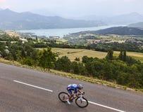 Cyklisten Pierrick Fedrigo Fotografering för Bildbyråer
