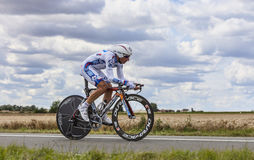 Cyklisten Pierrick Fedrigo Arkivbild