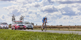 Cyklisten Rein Taaramae Royaltyfria Foton