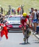 Cyklisten Rein Taaramae Arkivfoton