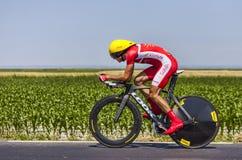 Cyklisten Rudy Molard Arkivfoton