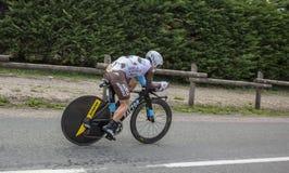 Cyklisten Samuel Dumoulin - Kriterium du Dauphine 2017 Arkivbilder