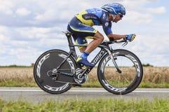 Cyklisten Sergio Paulinho Arkivfoton