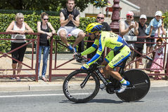 Cyklisten Sergio Paulinho - Tour de France 2014 Royaltyfri Fotografi