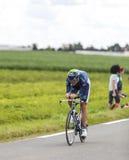 Cyklisten Vladimir Karpets Arkivbild
