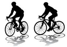 cyklister royaltyfri illustrationer