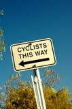 cyklister Arkivfoto