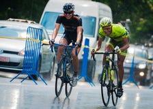 Cyklister från olik lagcirkulering arkivfoton