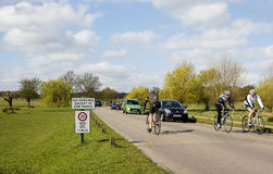 Cyklister i Richmond Park Arkivfoton