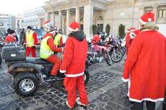 cyklister santa Arkivfoto
