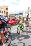 Cyklister som konkurrerar i Postgirot D'Italia 2014 Royaltyfri Fotografi