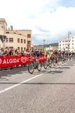 Cyklister som konkurrerar i Postgirot D'Italia 2014 Arkivbild