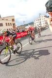 Cyklister som konkurrerar i Postgirot D'Italia 2014 Royaltyfri Foto