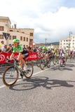 Cyklister som konkurrerar i Postgirot D'Italia 2014 Royaltyfri Bild