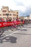 Cyklister som konkurrerar i Postgirot D'Italia 2014 Fotografering för Bildbyråer