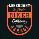 CyklistKalifornien garage Fotografering för Bildbyråer