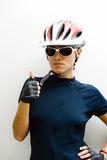 cyklistkvinna Arkivbilder