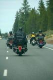 cyklistlädermotorcyklar Royaltyfri Bild