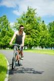 cyklistmanbarn Arkivbilder