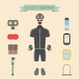 Cyklists kugghjul Arkivfoto
