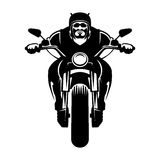 Cyklistsymbol man motorcykeln Arkivfoton