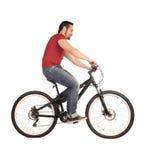 cyklistwhite Royaltyfria Bilder