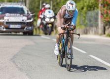 Cyklisty Axel Domont, Criterium - Du Dauphine 2017 Fotografia Royalty Free