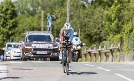 Cyklisty Axel Domont, Criterium - Du Dauphine 2017 Obraz Royalty Free