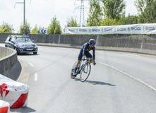Cyklisty John Gadret- tour de france 2014 Zdjęcia Royalty Free