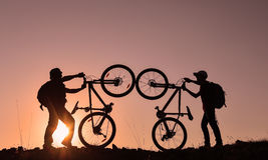 Cyklisty życie obrazy royalty free