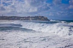 Cyklon på den Bondi stranden, Sydney royaltyfria foton