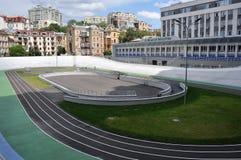 Cyklu ślad w historycznym starym centrum miasta Obraz Stock
