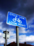 Cyklu Pas ruchu Obrazy Stock