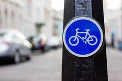 Cyklu pasa ruchu znak Zdjęcia Royalty Free