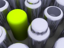 Cylinder Array Stock Image