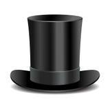 Cylinder black gentleman hat Stock Image