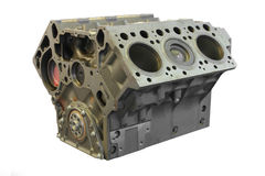 Cylinder block. The image of a cylinder block under the white background royalty free stock photography