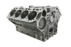 Cylinder block of truck engine Stock Image